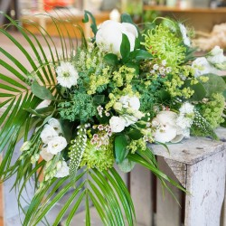 Simple Whites, Creams & Greens Sustainable flower delivery